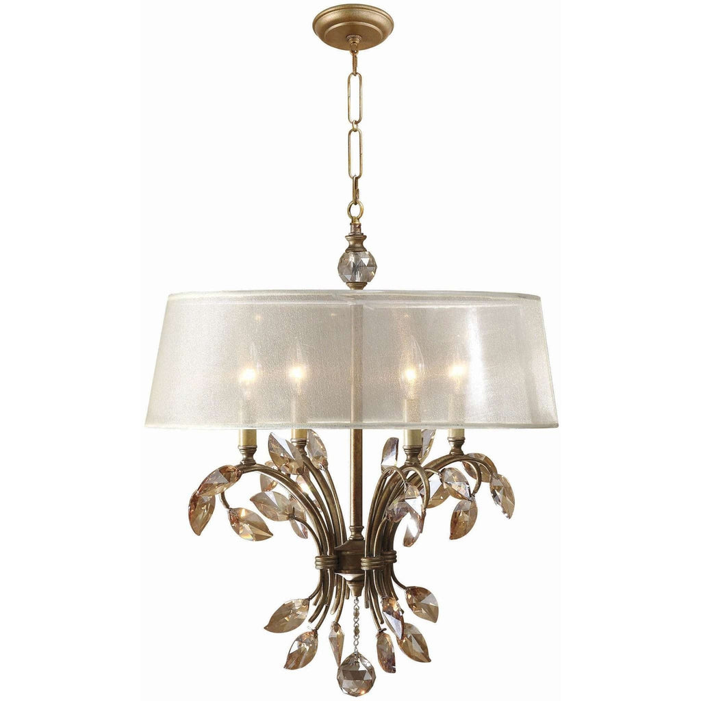 Uttermost Alenya 4 Light Gold Metal Chandelier