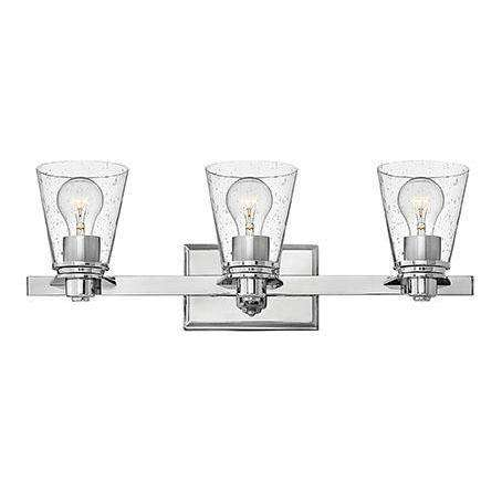 Bath Avon Bath Three Light Chrome With Clear