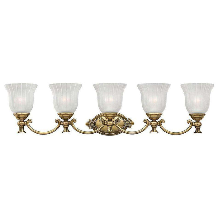 Bath Francoise Bath Five Light Burnished Brass