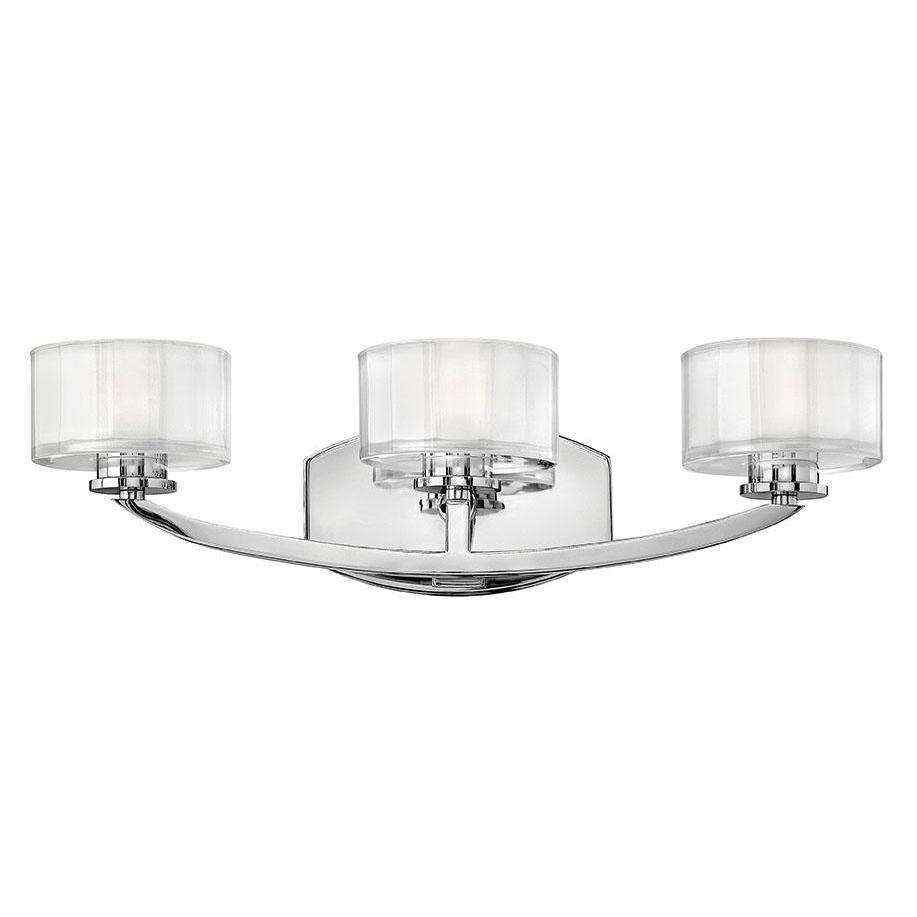 Bath Meridian Bath Three Light Chrome