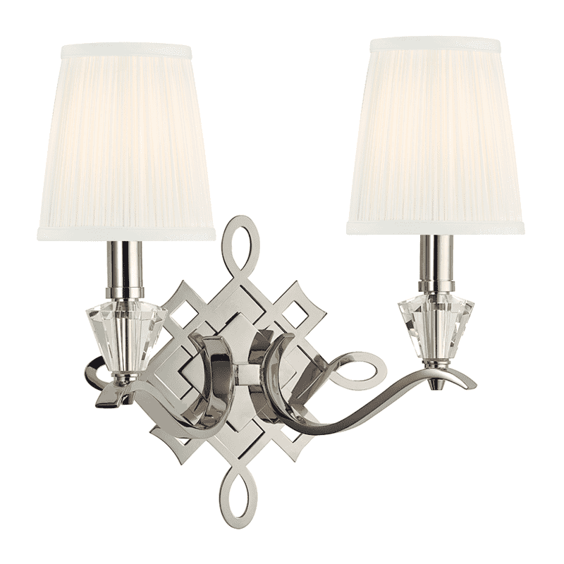 Fowler 2 Light Wall Sconce Polished Nickel