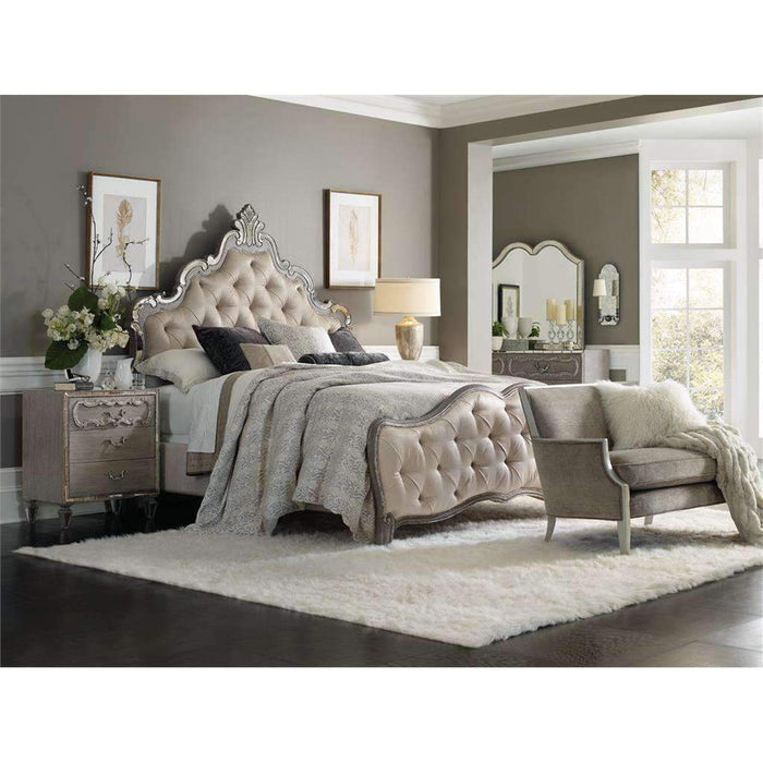 Sanctuary Upholstered King Panel Bed
