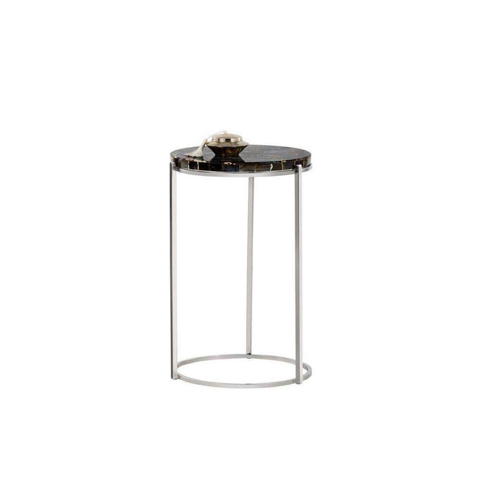 Tillie End Table - Black Agate