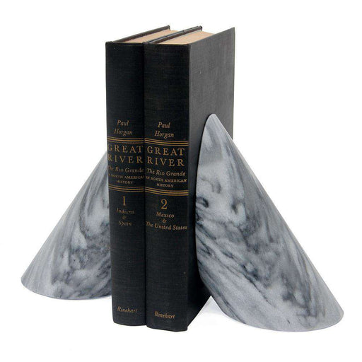 Coronet Collection Cloud Gray Marble Bookends