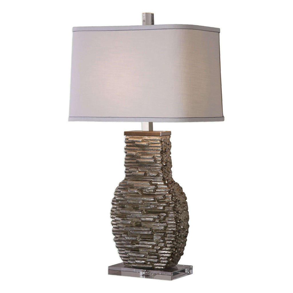 Clavin Stack Textured Table Lamp