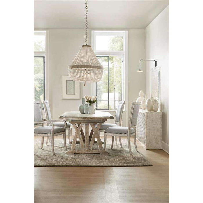 Boheme Colibri 88in Trestle Dining Table w/1-20in Leaf