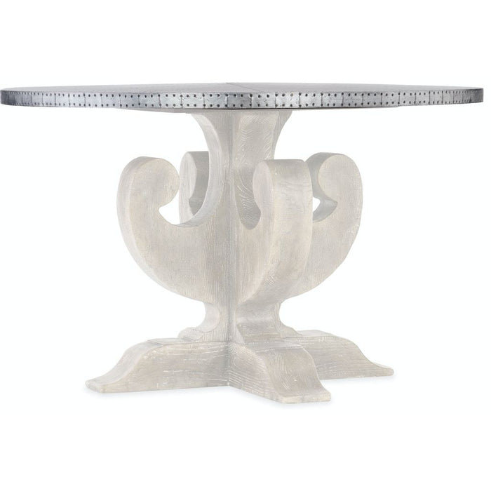 Boheme Ascension 48in Zinc Round Dining Table Top