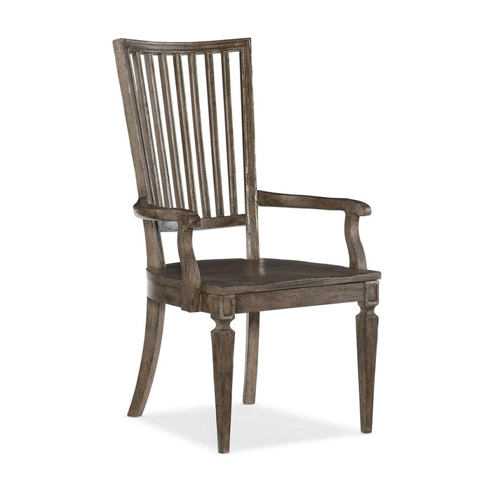 Woodlands Wood Back Arm Chair-Set of 2
