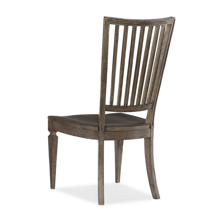 Woodlands Wood Back Side Chair-Set of 2