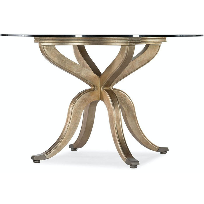Curvee Pedestal Dining Table Base w/top plate