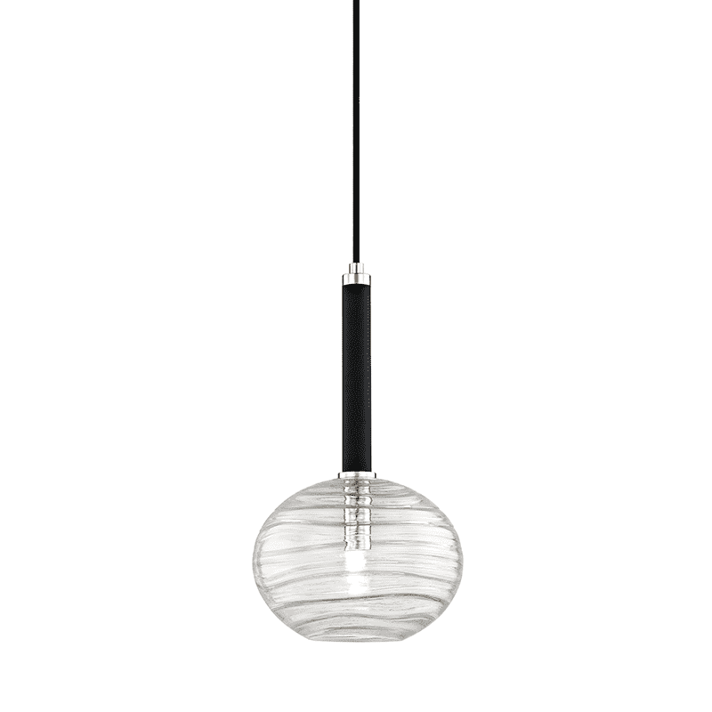 Breton 1 Light Pendant Polished Nickel