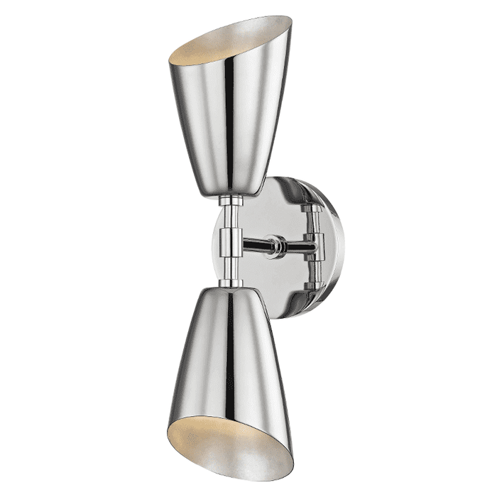 Kai 2 Light Wall Sconce - Polished Nickel
