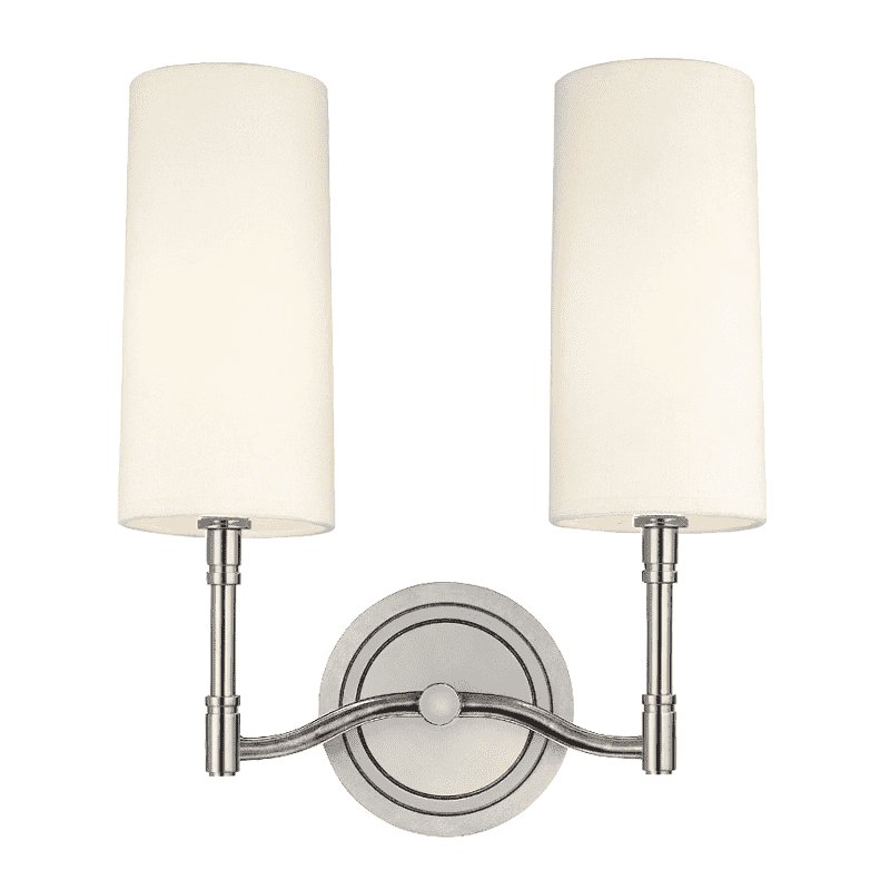 Dillon 2 Light Wall Sconce Polished Nickel