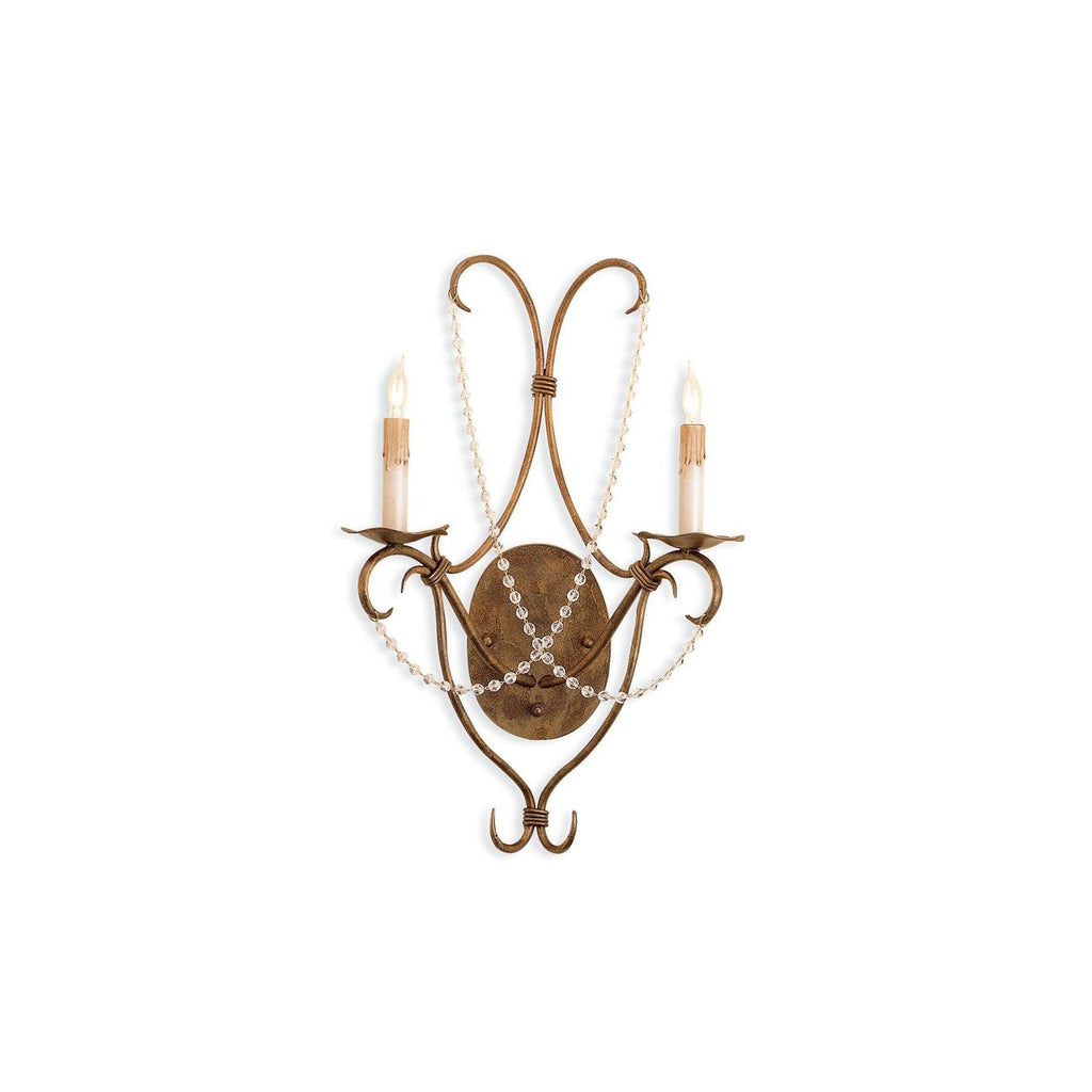 Crystal Lights Wall Sconce - Rhine Gold