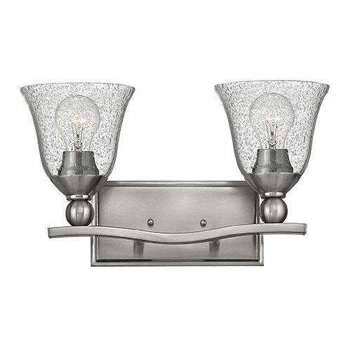 Bath Bolla Bath Two Light Brushed Nickel With Clear
