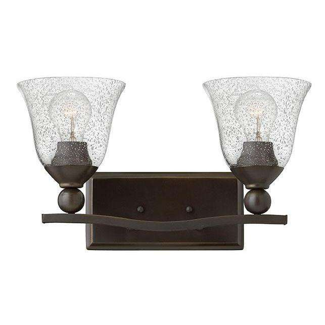 Bath Bolla Bath Two Light Olde Bronze With Clear Seedy