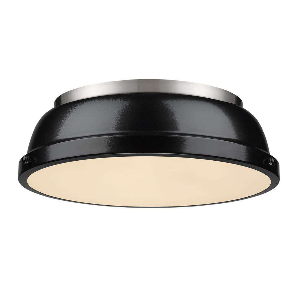 "Duncan Pewter Flush Mount 14"" - Black"