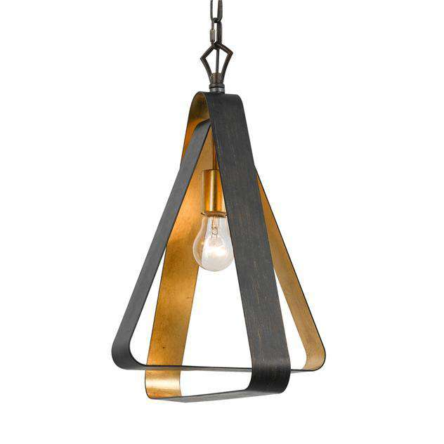 Luna 1 Light Bronze and Gold Mini Chandelier