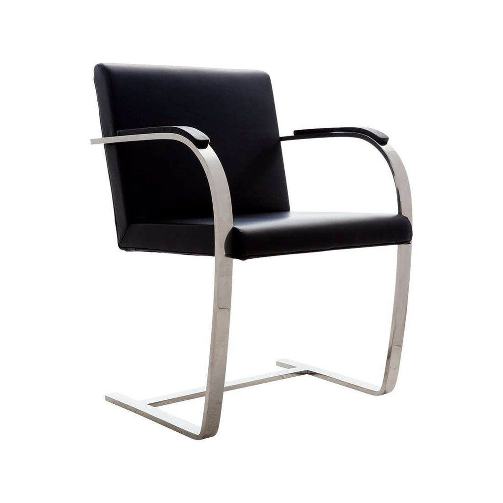 Ludwig Cantilevered Armchair - Flat Bar - Black  *free local shipping only*