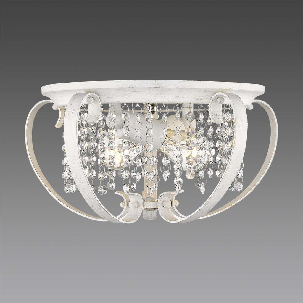 Ella FW Flush Mount French White