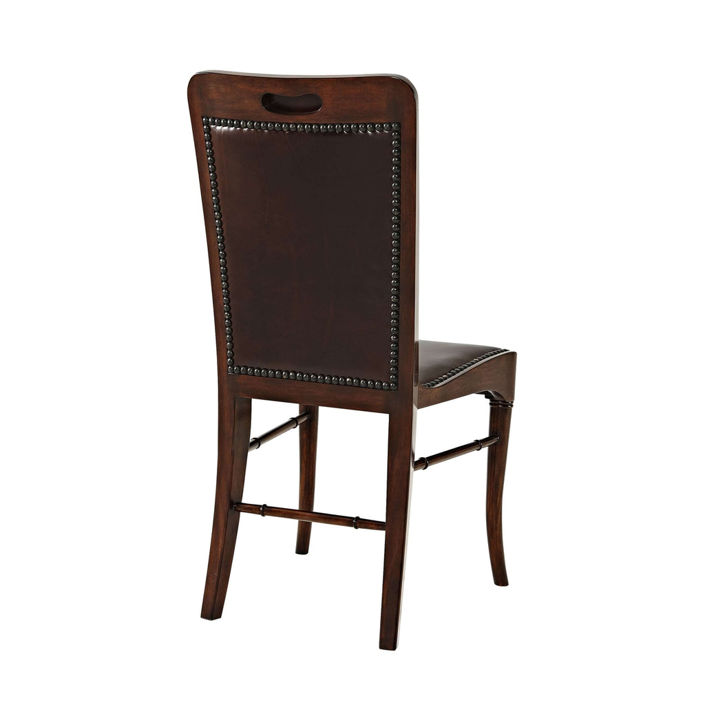 Leather Sling Side Chair Theodore Alexander Theo 4000