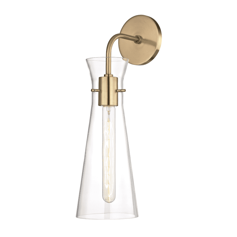 Anya 1 Light Wall Sconce - Aged Brass