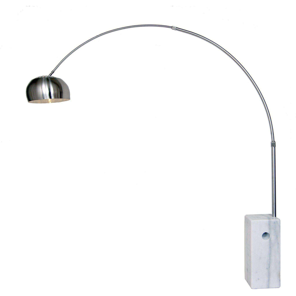 Mid-Century Modern Reproduction Arco Floor Lamp - Adjustable Arm and ...