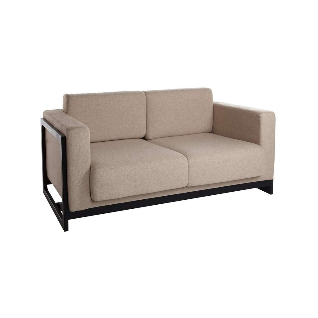 Sean Dix Bravura Love Seat - Beige with Black Frame