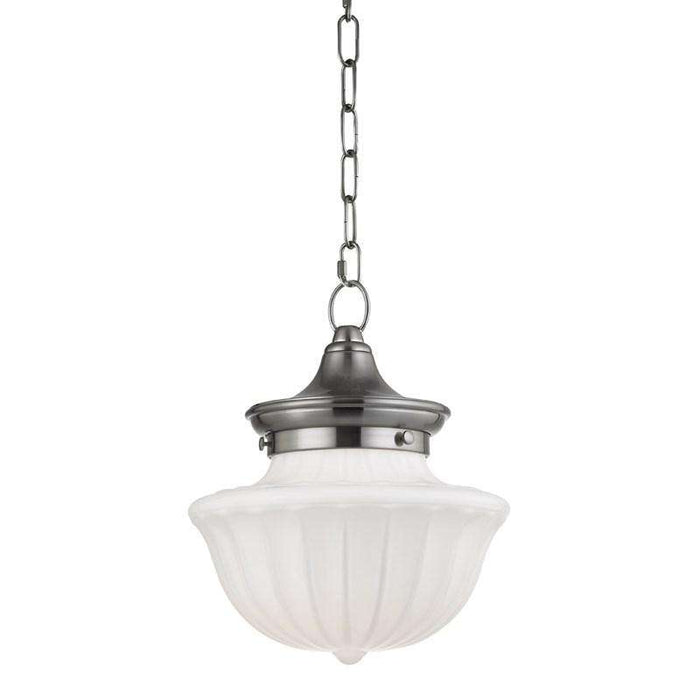 Dutchess 1 Light Small Pendant Satin Nickel