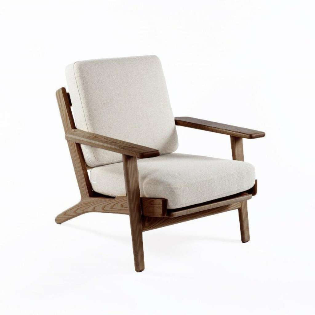 GE 290 Plank Chair - Walnut Beige
