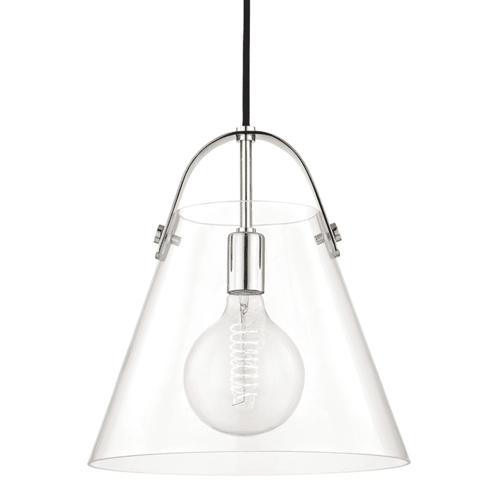 Karin 1 Light Large Pendant - Polished Nickel
