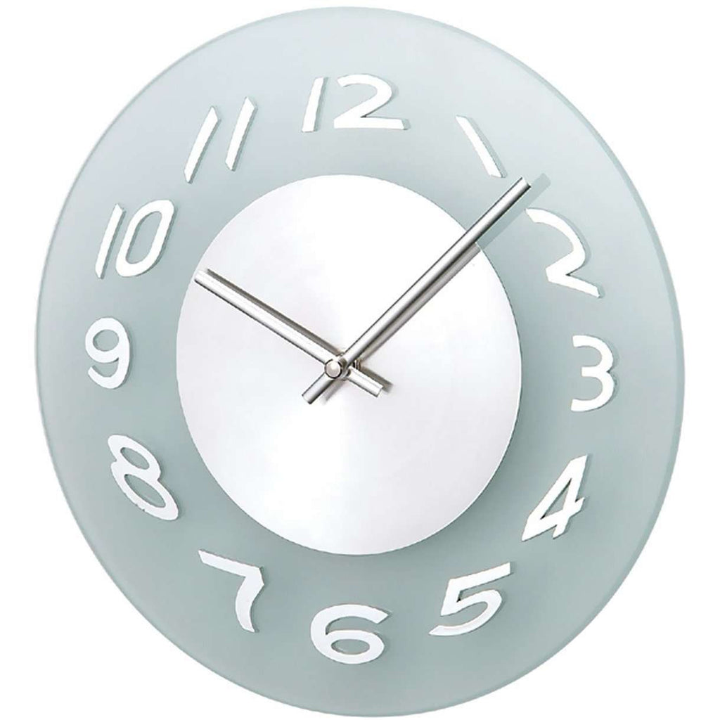 Mid-Century Modern Else Frosted Wall Clock