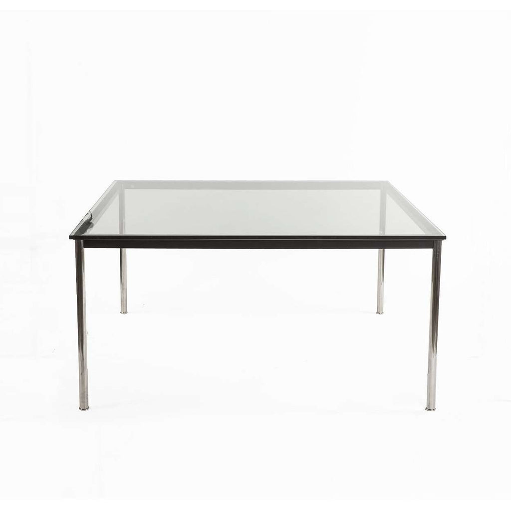 Mid Century Le Corbusier LC10 Square Dining Table 55