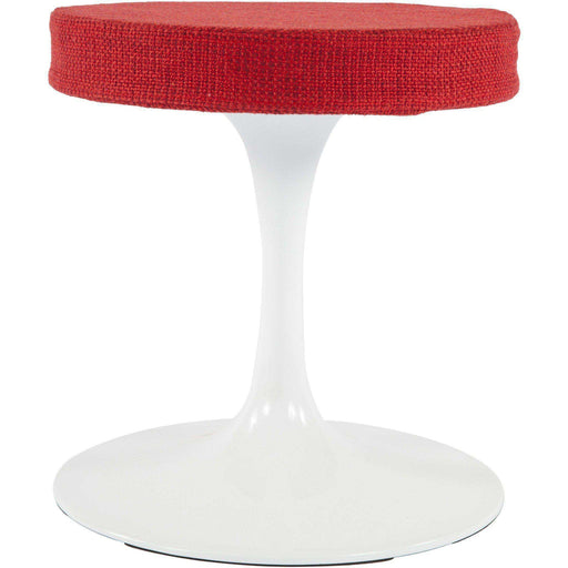 Mid-Century Modern Reproduction Tulip Stool - Red Inspired by Eero Saarinen