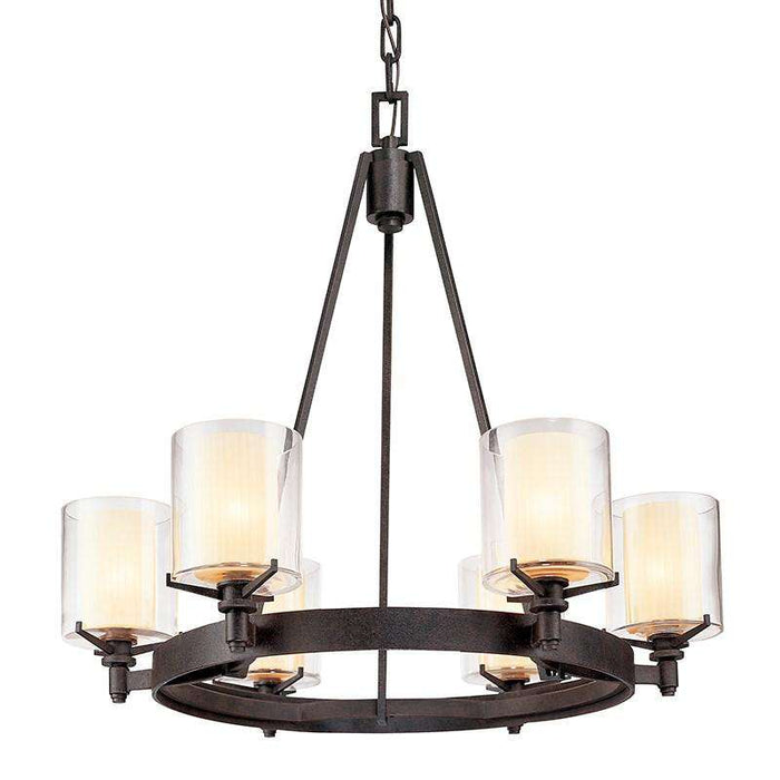 Arcadia 6Lt Chandelier French Iron