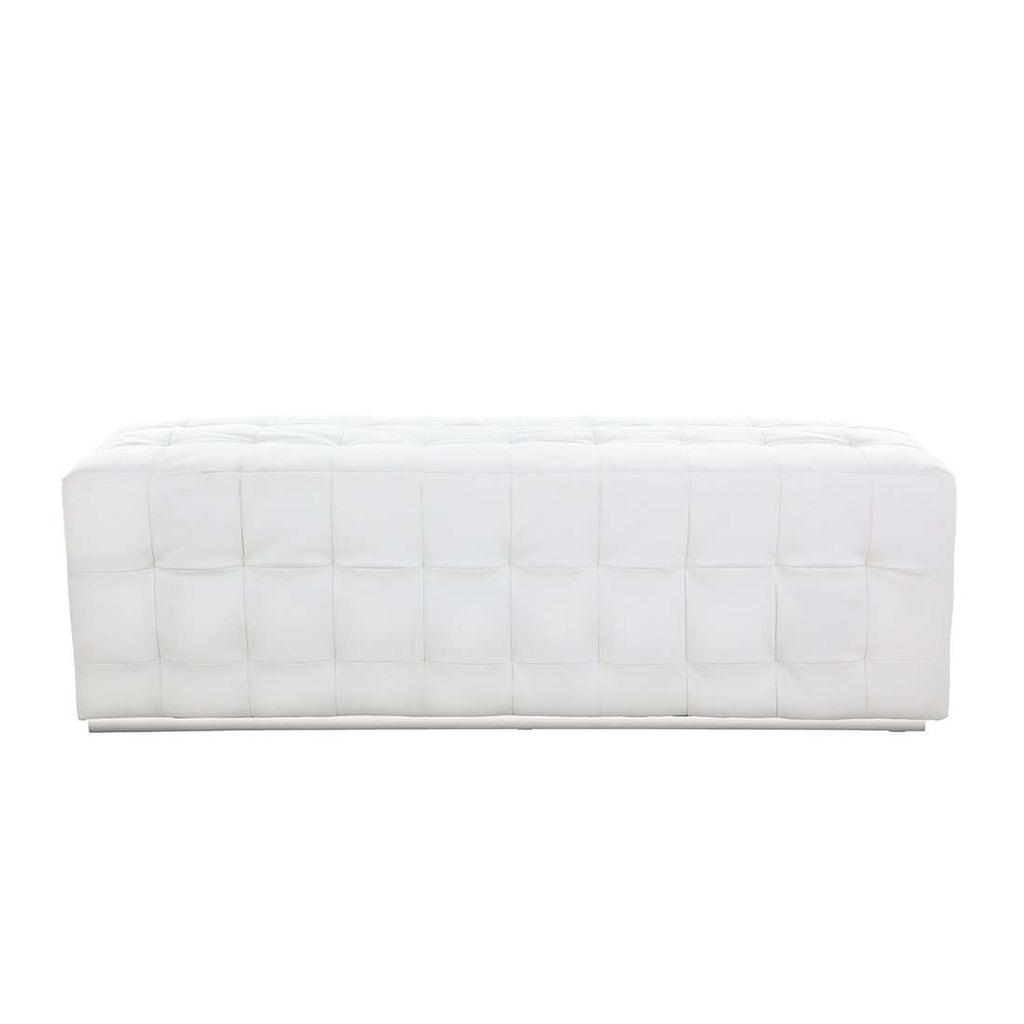 Dakarai Rectangular Bench - White