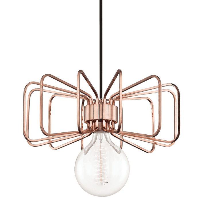 Daisy 1 Light Pendant - Polished Copper