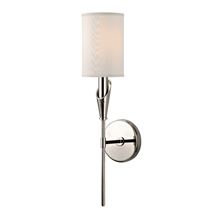 Tate 1 Light Wall Sconce Polished Nickel