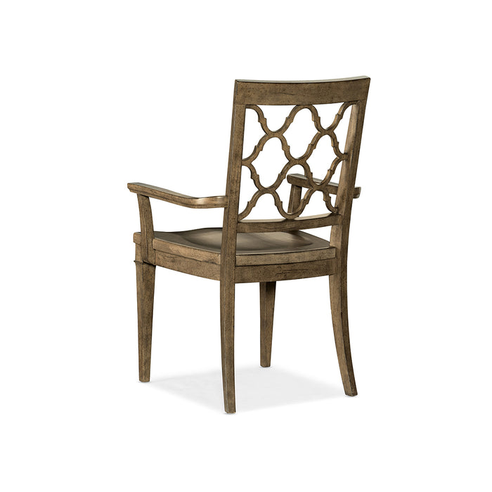 Montebello Wood Seat Arm Chair