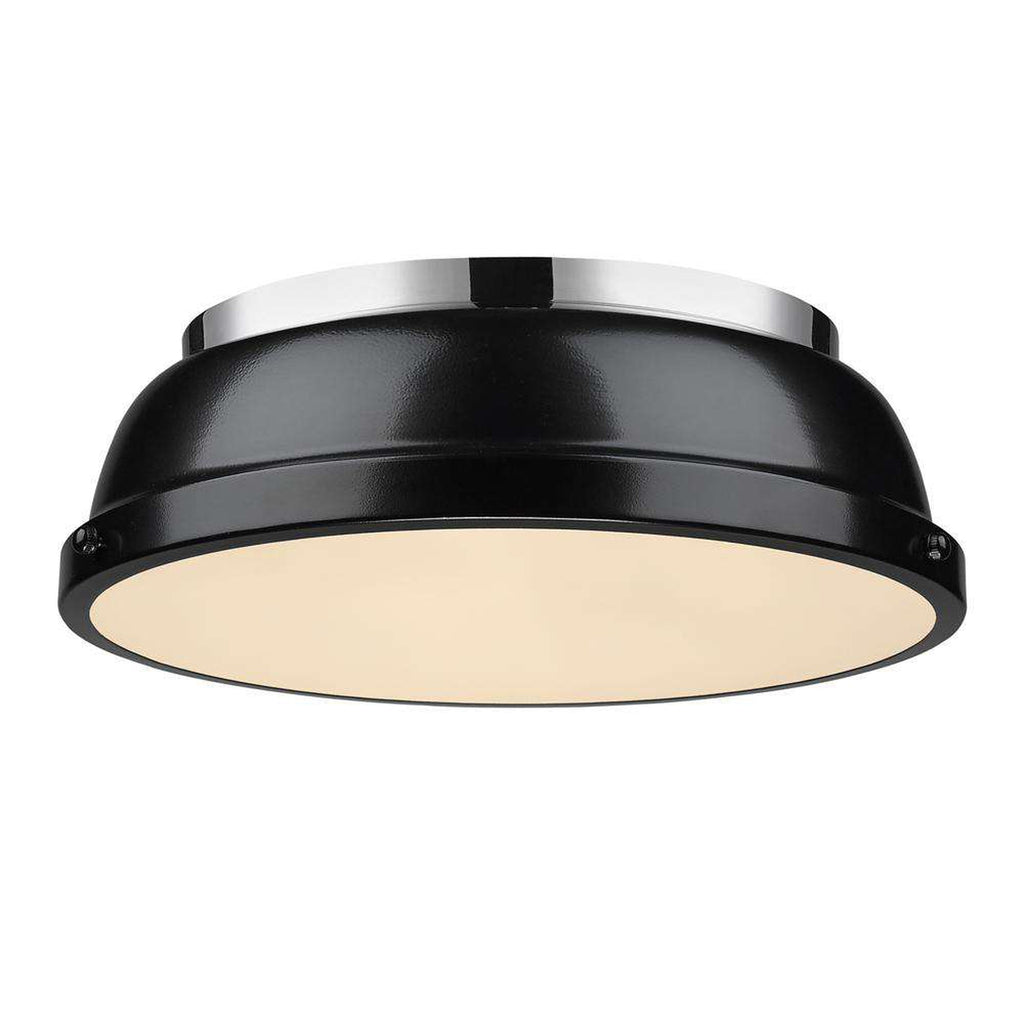 "Duncan Chrome Flush Mount 14"" - Black"