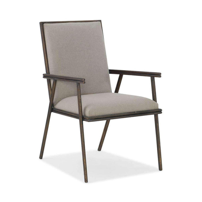 Miramar Carmel Fairview Metal Upholstered Arm Chair