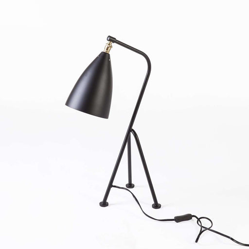 Mid-Century Modern Reproduction Mini Grasshopper Table Lamp - Black Inspired by Gretta Grossman