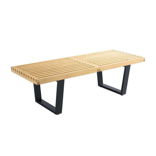 Mid-Century Modern Reproduction 48'' Platform Bench - Natural Inspired by George Nelson