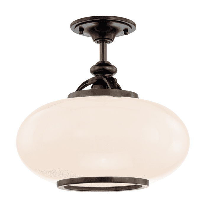 Canton 1 Light Semi Flush Old Bronze