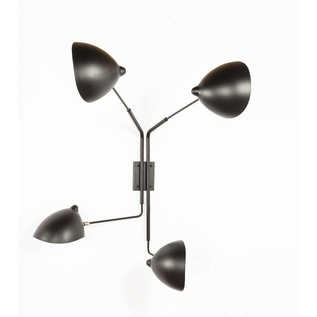 Mid-Century Modern Reproduction Four Arm Mini MSC-R4 Rotating Sconce Inspired by Serge Mouille