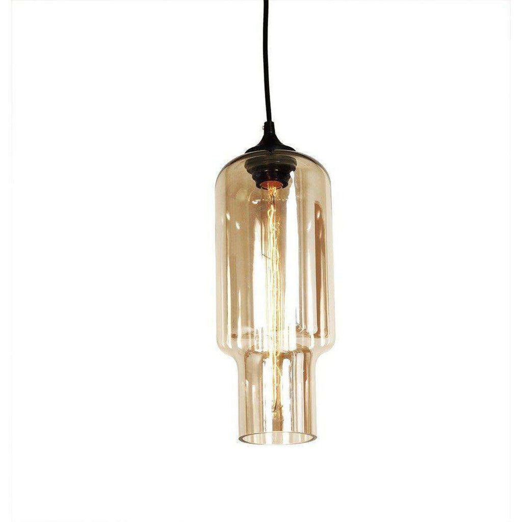 Mid Century Modern Pharos Transparent Pendant Brown