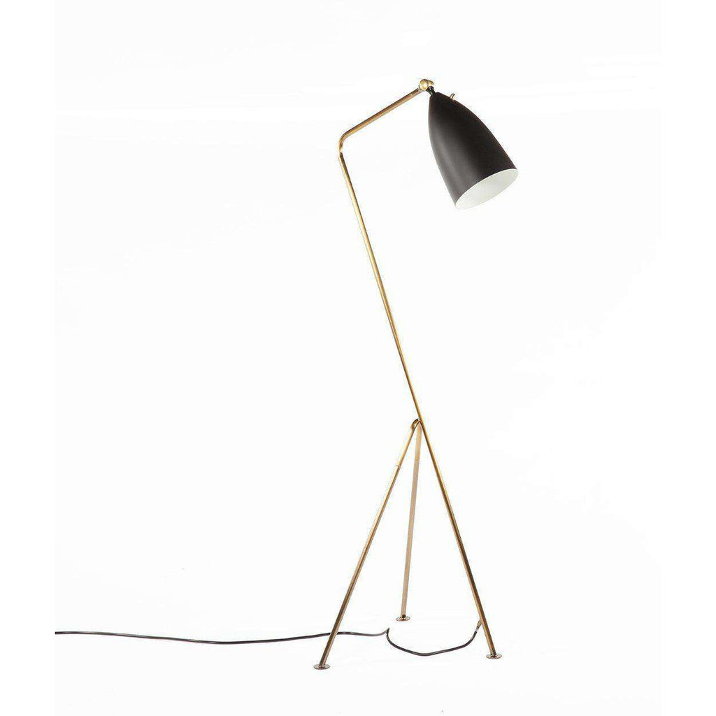 Mid-Century Modern Reproduction Grasshopper Floor lamp - Brass and Black Inspired by Greta Grossman
