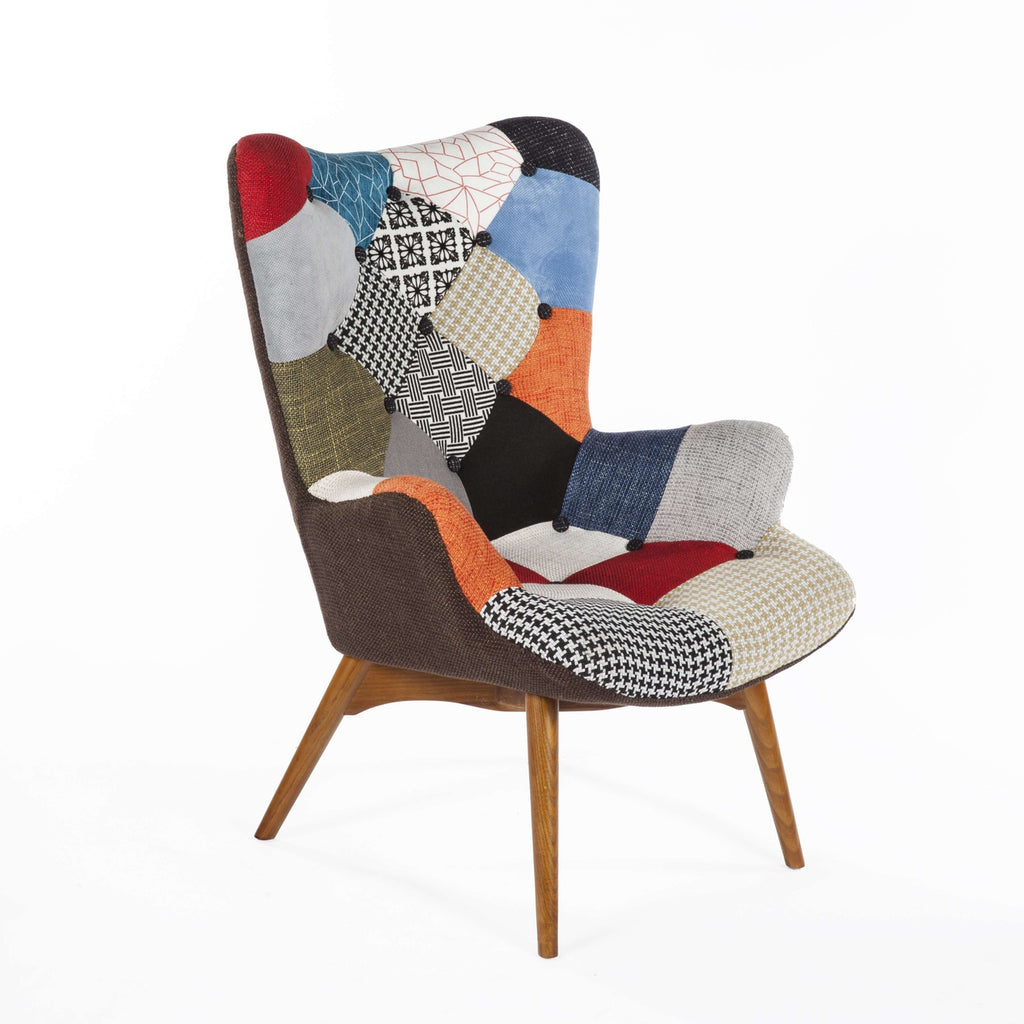 Mid Century Modern Reproduction Contour Lounge Chair In