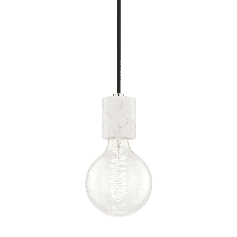 Asime 1 Light Pendant - Polished Nickel