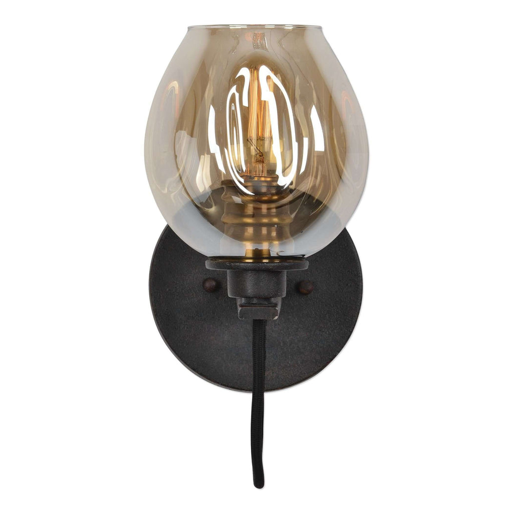 Fritz 1 Light Gold Glass Sconce